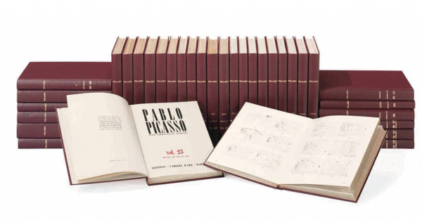 The 33-volume catalogue of Picasso's work by Christian Zervos. CHRISTIE'S IMAGES LTD. 2012.