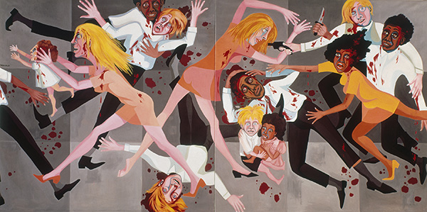 Faith Ringgold, American People Series #20: Die, 1967, oil on canvas. COURTESY ACA GALLERIES, NEW YORK.