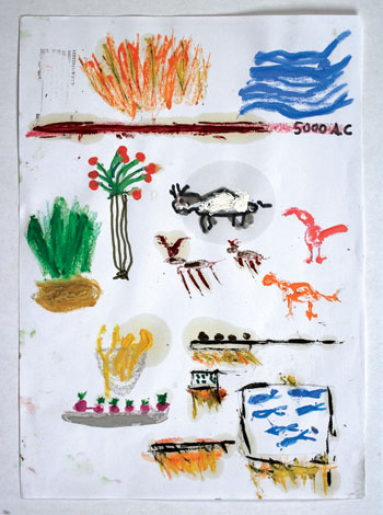 A drawing from Ferran Adrià's 60-part Theory of Culinary Evolution, 2013.COURTESY ELBULLIFOUNDATION