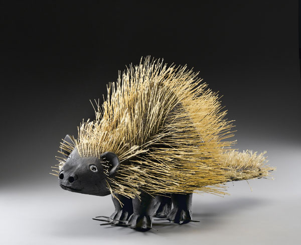 David Alvarez's sculpture Porcupine, ca. 1981.GAVIN ASHWORTH/AMERICAN FOLK ART MUSEUM, NEW YORK, GIFT OF ELIZABETH WECTER