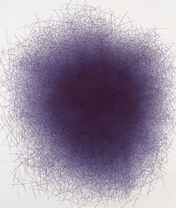 Il Lee's BL-1201, 2012, ballpoint pen on paper. COURTESY THE ARTIST AND ART PROJECTS INTERNATIONAL, NEW YORK