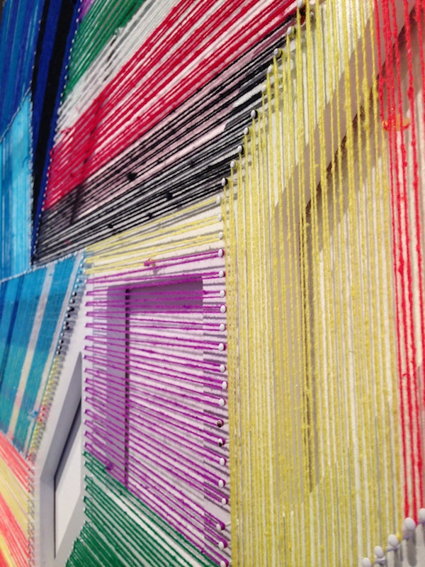 Adrian Esparza, 'Untitled' (detail), 2013, nails, thread, and serape. Fiedler Taubert Contemporary, Pulse Projects.
