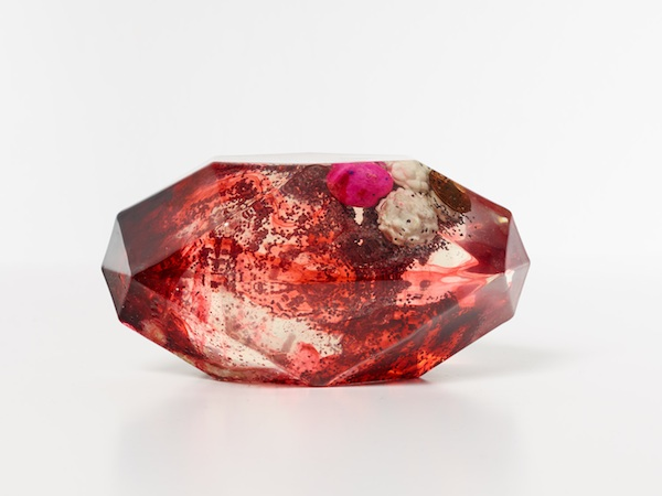 FriendsWithYou, Psychic Stone (Blood), 2013, sacred objects encapsulated in resin, $800. COURTESY PK SHOP.