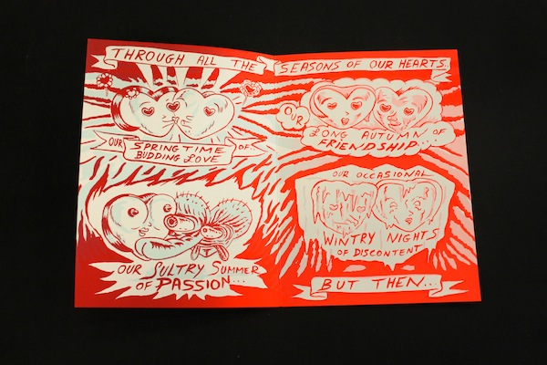 David Sandlin, Seasons of our Hearts Valentine, screenprint, edition of 50, signed and numbered. PHOTO: MATTHEW PRINS.