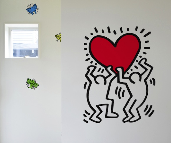 Keith Haring, Untitled Heart, decal by Blik, available at Art Markit, $55.