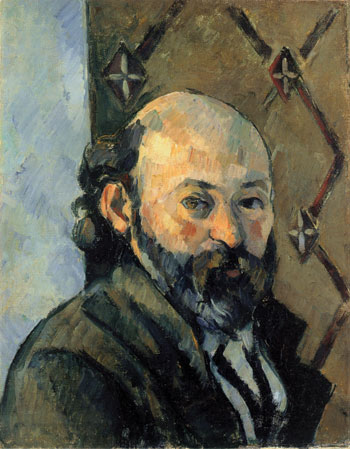 "Using the online catalogue's search feature, type in the keyword ""olive"" and you'll find Portrait de l'artiste au papier peint olivâtre (Portrait of the artist against olive-colored wallpaper), 1880–81. NATIONAL GALLERY, LONDON"