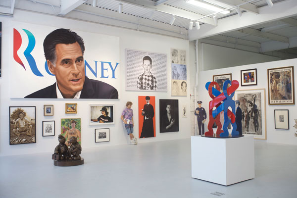 "In 2012, the foundation launched its Project Space in Chelsea with ""We the People,"" a show that included political work from older and younger artists such as Alice Neel, Fred Wilson, and Swoon. GLENN STIEGELMAN"