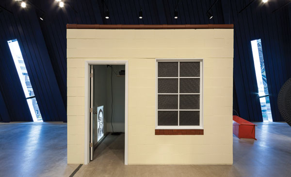 The MOCA Cleveland show included a replica of The Suburban, a gallery Grabner runs in an 8-by-8-foot garden shed in her backyard. HOWARD AGRIESTI