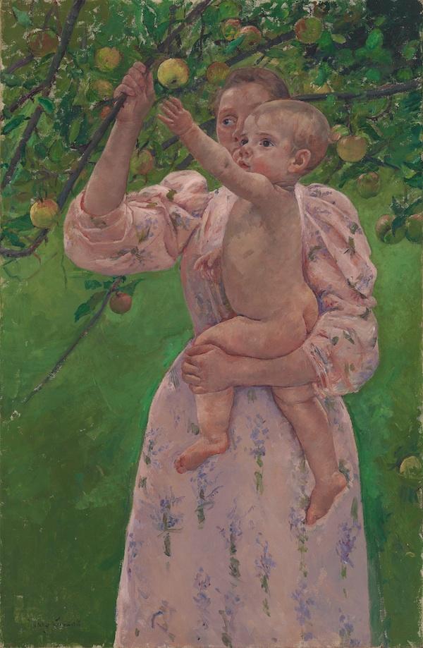 Mary Cassatt, Child Picking a Fruit, 1893, oil on canvas. ©VIRGINIA MUSEUM OF FINE ARTS. COURTESY VIRGINIA MUSEUM OF FINE ARTS, RICHMOND, GIFT OF IVOR AND ANNE MASSEY. PHOTO: TRAVIS FULLERTON.