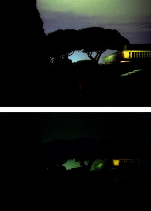 Stephen Berens  Top:August 4, 2005, Night, July 28, 2005, Night (Lightning), 2013, dye-based inkjet print. Bottom: August 4, 2005, Night, July 28, 2005, Night (Lightning), July 28, 2005, Night, August 7, 2005, Night, July 29, 2005, Middle of the Night, 2013, dye-based inkjet print. COLLECTION OF THE ARTIST. COURTESY THE ARTIST. ©STEPHEN BERENS.