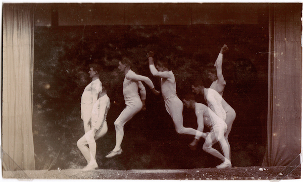 Georges Demeny, Chronophotograph of a Man Jumping, 1896, gelatin silver print. ©GEORGES DEMENY. COURTESY L. PARKER STEPHENSON PHOTOGRAPHS, NEW YORK.