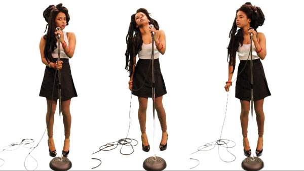 Tameka Norris as Amy Winehouse in Back to Black, 2011. COURTESY THE ARTIST AND LOMBARD FREID GALLERY, NEW YORK