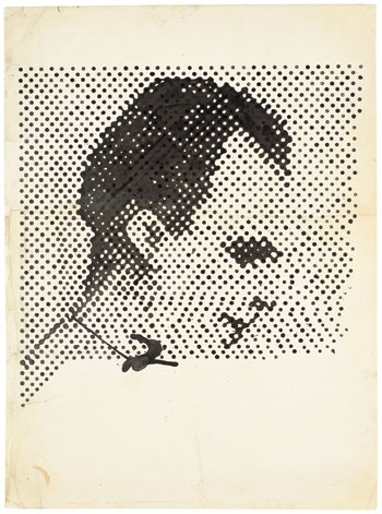 "For the first of his ""raster dot"" works, Polke worked from a 1963 newspaper image of Lee Harvey Oswald. WOLFGANG MORELL/©2014 ESTATE OF SIGMAR POLKE/ARTISTS RIGHTS SOCIETY (ARS), NEW YORK/VG BILD-KUNST, BONN/PRIVATE COLLECTION"