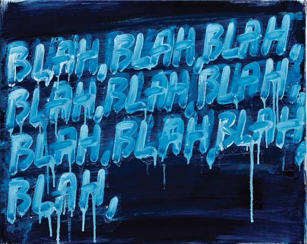 Mel Bochner in his own words: Blah, Blah, Blah, 2008. ©MEL BOCHNER/COLLECTION OF DAVID AND EVELYN LASRY
