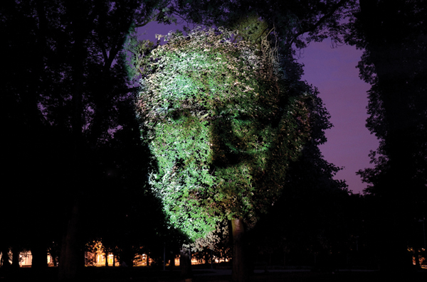 Tony Oursler's Influence Machine, 2000, was projected on the grounds of London's Tate Modern last year. ©2013 TONY OURSLER