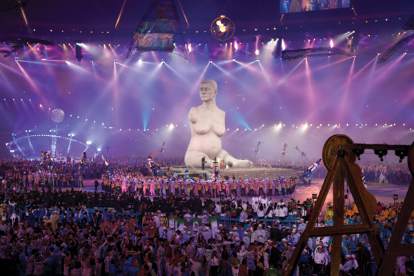 Quinn's 36-foot-tall Breath was the centerpiece of the opening ceremony for the 2012 Paralympics in London. COURTESY MARC QUINN STUDIO, LONDON