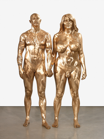 A 2009 double portrait of transsexual porn stars Buck Angel and Allanah Starr in the roles of Adam and Eve. ROGER WOOLDRIDGE/COURTESY WHITE CUBE, LONDON