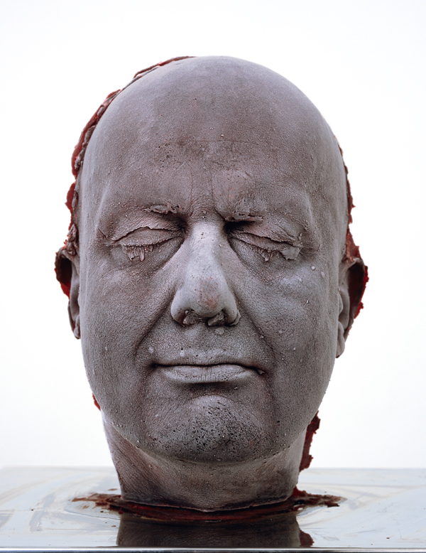 "Self 2006, one of his icy ""blood head"" self-portraits. COURTESY MARC QUINN STUDIO, LONDON"