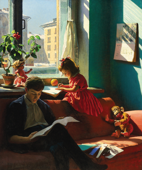 Alexander Laktionov's Visiting My Grandmother, 1930, sold at Sotheby's London in 2011 for $400,000. COURTESY SOTHEBY'S
