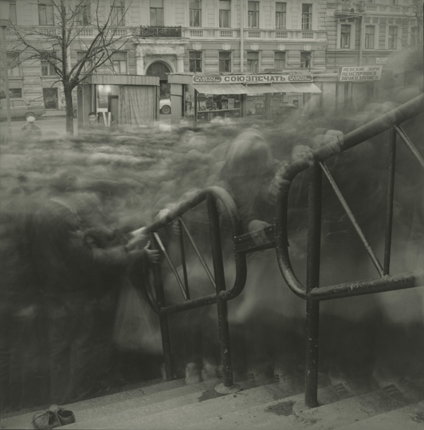 "Saint Petersburg, 1992, a gelatin silver print from ""City of Shadows,"" was inspired by the music of Shostakovich. ©ALEXEY TITARENKO/COURTESY NAILYA ALEXANDER GALLERY, NEW YORK"