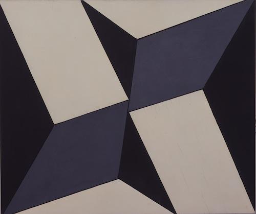 """Lygia Clark, Planos em superfície modulada no. 2, versão 01 (Planes in modulated surface no. 2, version 1), ca. 1957, industrial paint on wood. LUIZ PAULO MONTENEGRO COLLECTION. PHOTO: EURIDES LULA RODRIGUES CARDOSO, COURTESY ASSOCIAÇÃO CULTURAL """"O MUNDO DE LYGIA CLARK,"""" RIO DE JANEIRO."""