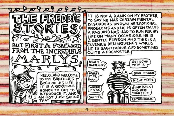 Lynda Barry, Drawings for The Freddie Stories, 1999 - 2012, ink on paper. COURTESY ADAM BAUMGOLD GALLERY.