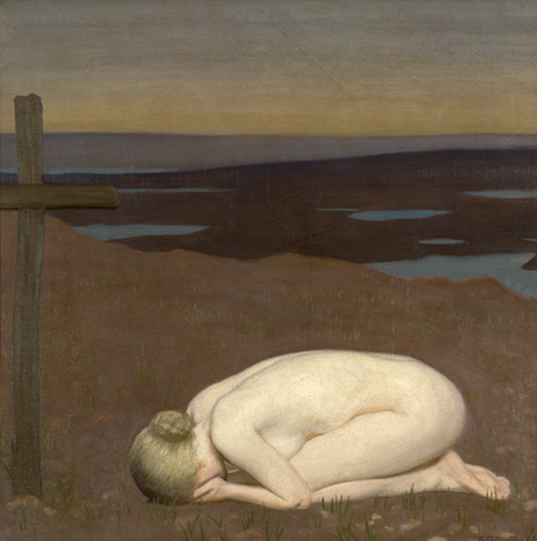 George Clausen's allegorical painting Youth Mourning, 1916, will be featured at London's Imperial War Museum in July. ©IWM