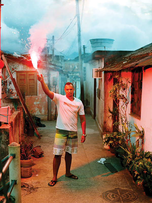 Lucas, Morro da Providência, Rio de Janeiro, 2013, from the photo book Olympic Favela by Marc Ohrem-Leclef. ©2014 MARC OHREM-LECLEF