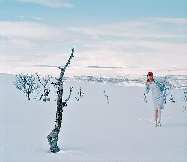 Mount Palopää, 2001, shows photographer Marja Helander's urban style in her Sámi homeland. THE SÁMI COLLECTIONS, KARASJOK