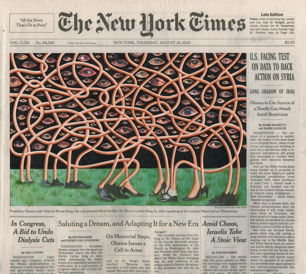 "Fred Tomaselli, August 29, 2013, 2013, collage, gouache, and archival inkjet print on watercolor paper, 10 3/4"" x 12 1/4"".  © 2014 by Fred Tomaselli."
