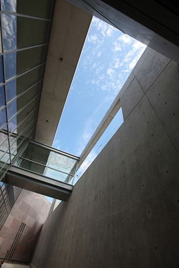 A view of the new Tadao Ando–designed visitor center at the Clark Art Institute, which houses underground galleries.KRIS QUA/COURTESY STERLING AND FRANCINE CLARK ART INSTITUTE, WILLIAMSTOWN, MASSACHUSETTS