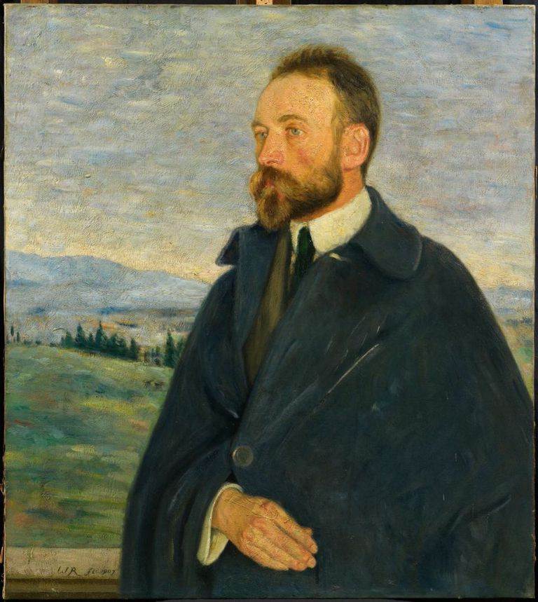 William Rothenstein, Bernard Berenson, 1907, oil paint on canvas.    COURTESY BERENSON COLLECTION VILLA I TATTI/THE HARVARD UNIVERSITY CENTER  FOR ITALIAN RENAISSANCE STUDIES. PHOTO: ©THE PRESIDENT AND FELLOWS OF  HARVARD COLLEGE.
