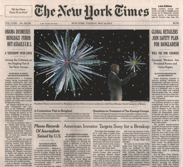 "Fred Tomaselli, May 14, 2013, 2013, collage, gouache, marker, and archival inkjet print on watercolor paper, 10 3/4 x 12"".  © 2014 FRED TOMASELLI."