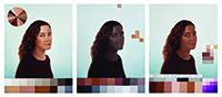 Adriana Varejão, Polvo Portraits I (Seascape Series), 2014,  oil on canvas and paint set, triptych. COURTESY JAIME ACIOLI.