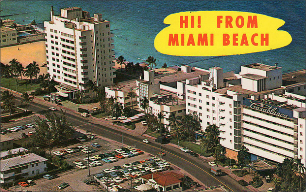 A Miami Beach postcard from 1964.1950SUNLIMITED/FLICKR