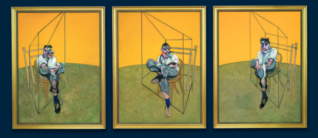 Three Studies of Lucian Freud (in 3 parts) (1969) by Francis Bacon.© CHRISTIE'S