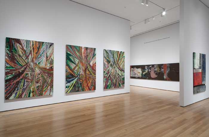 Installation view of the forever now contemporary painting in an atemporal world at