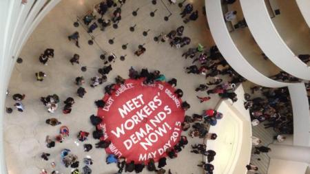 May Day Protesters Occupy the Guggenheim