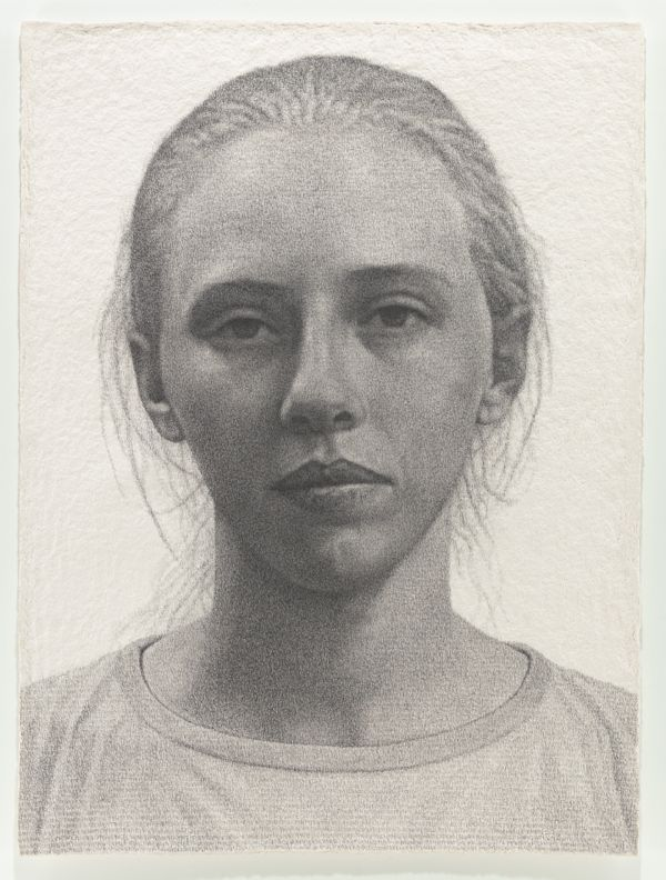 Ben Durham, Ashley, 2012, graphite text on handmade paper. COURTESY THE ARTIST.