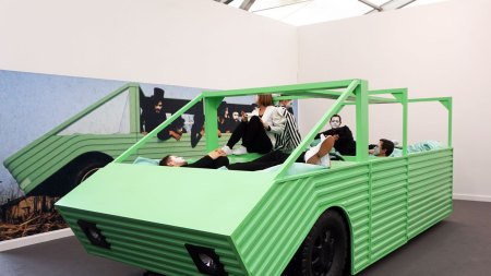 Mimes Gone Wild! Anthea Hamilton Stages