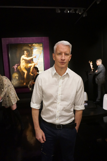 Anderson Cooper at TEFAF New York. MAXIMILÍANO DURÓN/ARTNEWS
