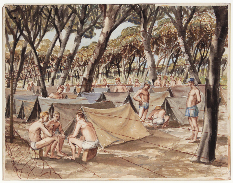 at ease g i pearlstein philip pearlstein captures world war  philip pearlstein german prisoner of war camp near pisa 1945