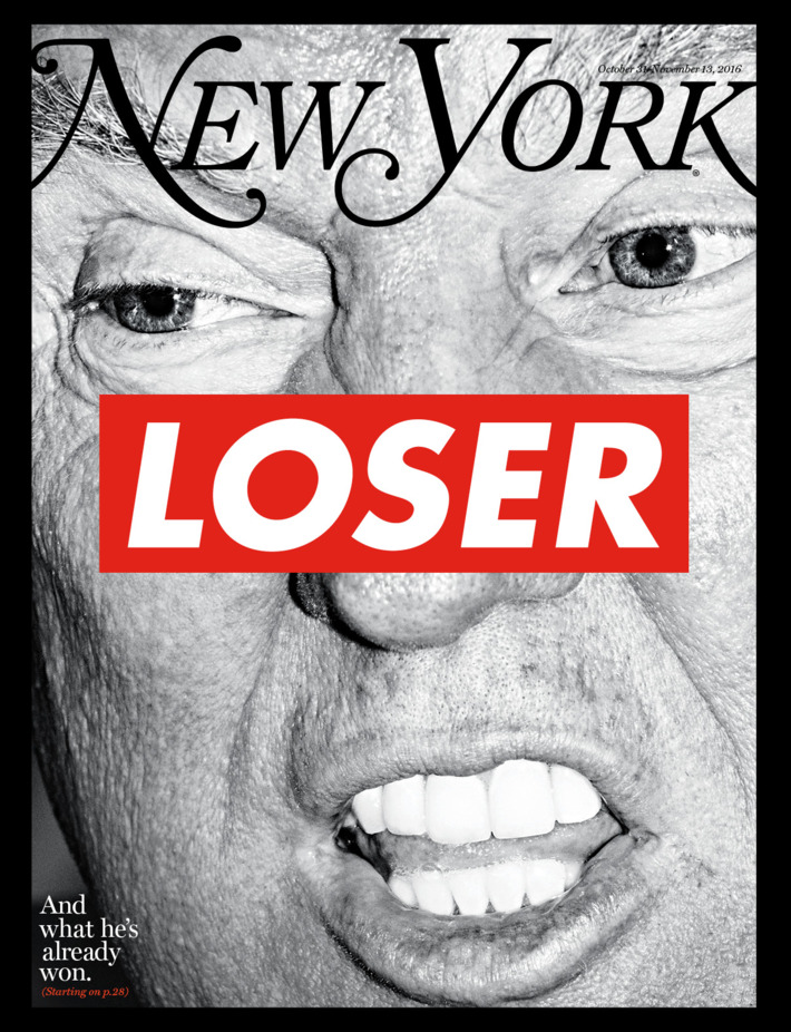 New York Magazine Oct 31 - Nov 13 2016 Trump LOSER Brand New NO Label