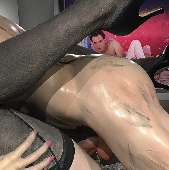 Two works by Jeff Koons.COURTESY CHLOE WISE INSTAGRAM