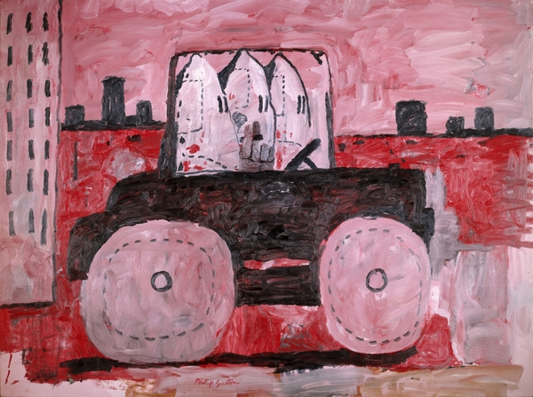 Philip Guston, City Limits, 1969, oil on canvas.  ©THE ESTATE OF PHILIP GUSTON. COURTESY THE MUSEUM OF MODERN ART, NEW YORK. GIFT OF MUSA GUSTON, 1991.
