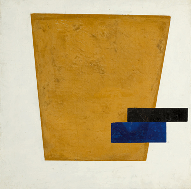 Kazimir Malevich's Suprematist Composition with Plane in Projection (1915) had a pre-sale estimate of $12 million – $18 million, and sold for $21.2 million. COURTESY SOTHEBY'S