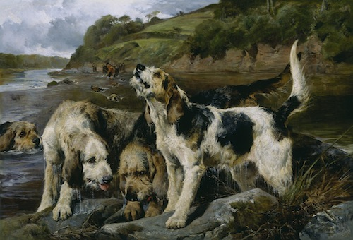 "John Sargent Noble, Otter Hunting (""On the Scent""), 1881, oil on canvas. THE MUSEUM OF FINE ARTS, HOUSTON FUNDED BY ""ONE GREAT NIGHT IN NOVEMBER, 2006."""