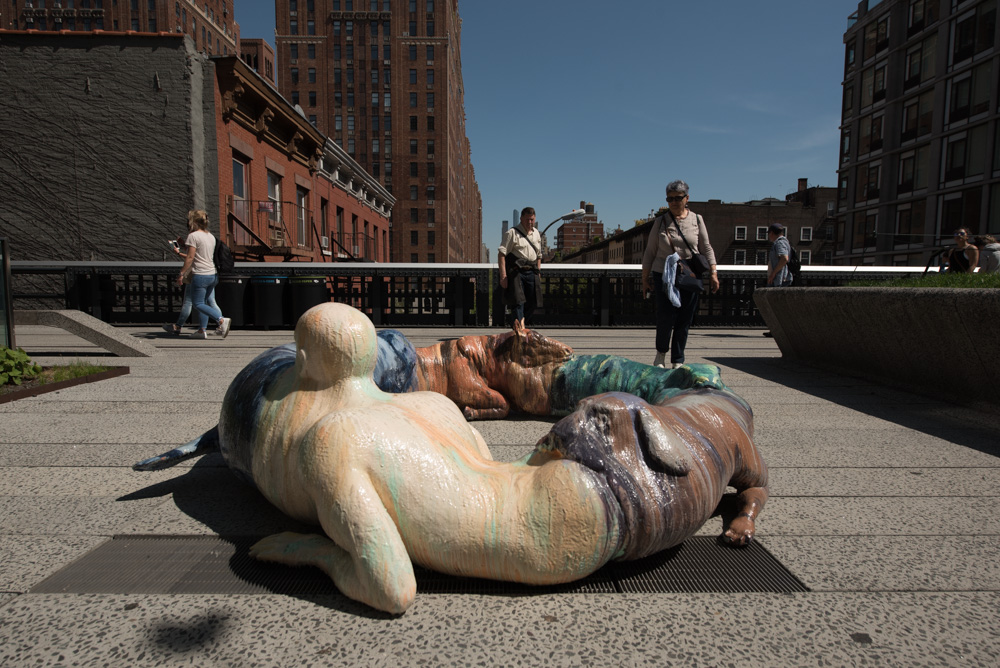 "Jon Rafman's L'Avalée des avalés (The Swallower Swallowed), 2017, is currently installed on the High Line, in the group show ""Mutations.""TIMOTHY SCHENCK/COURTESY FRIENDS OF THE HIGH LINE"