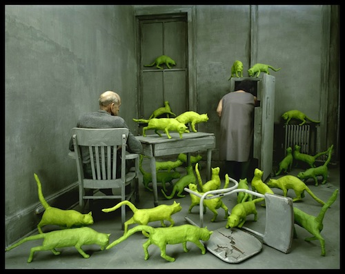 Sandy Skoglund, Radioactive Cats, 1980, Cibachrome print. RADIOACTIVE CATS ©1980 SANDY SKOGLUND