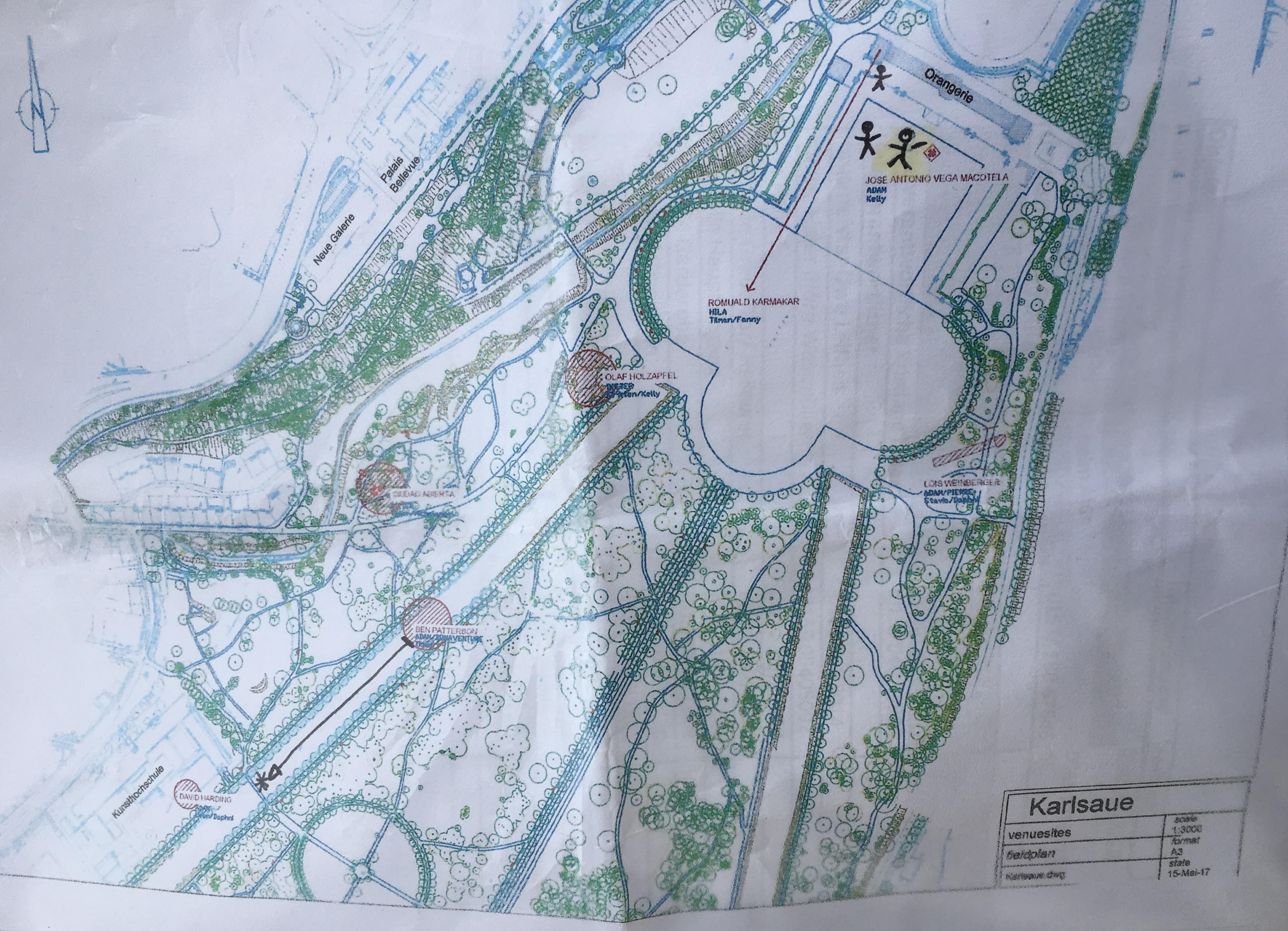 Heres the Map of Documenta 14 Works in Karlsraue Park in Kassel